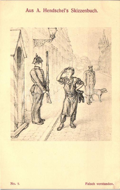 Aus A. Hendschel's Skizzenbuch No. 9. 'Falsch verstanden' pinx. A. Hendschel