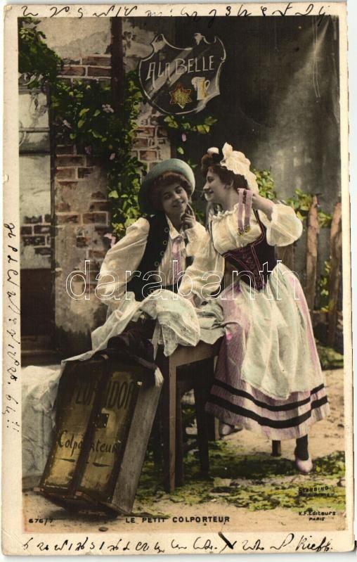 Le Petit Colporteur / French couple Francia szerelmespár