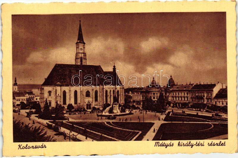 Cluj, King Matthias square, Kolozsvár, Mátyás király téri részlet