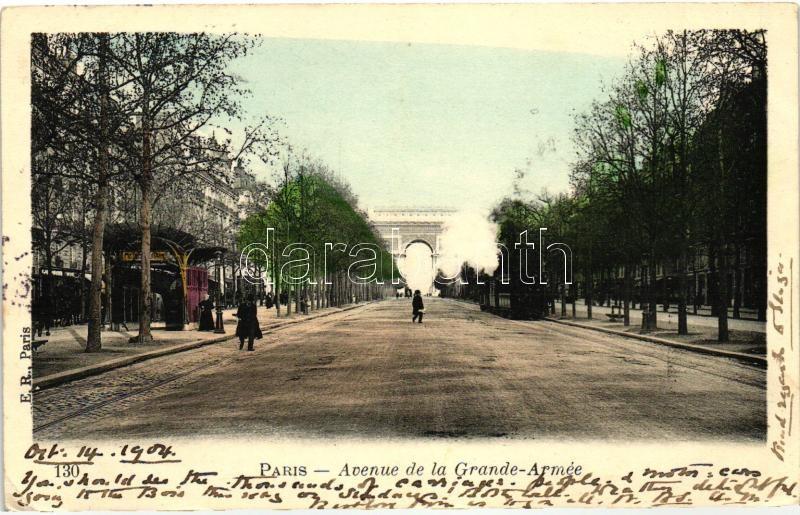 Paris, Avenue de la Grande Armée, urban railway