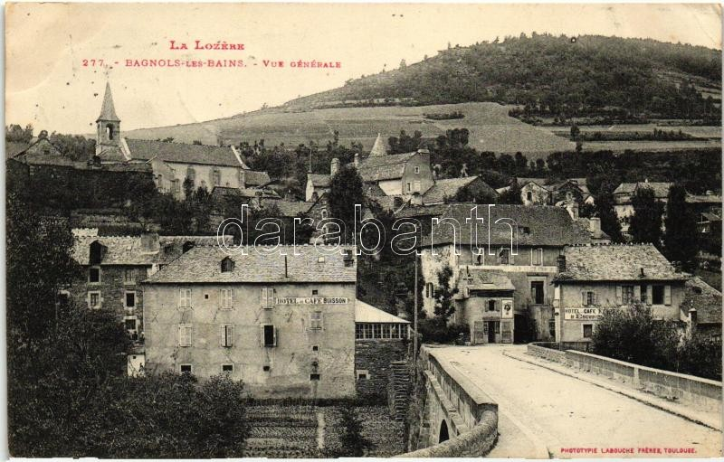 Bagnols-les-Bains, Hotel and Cafe Buisson,
