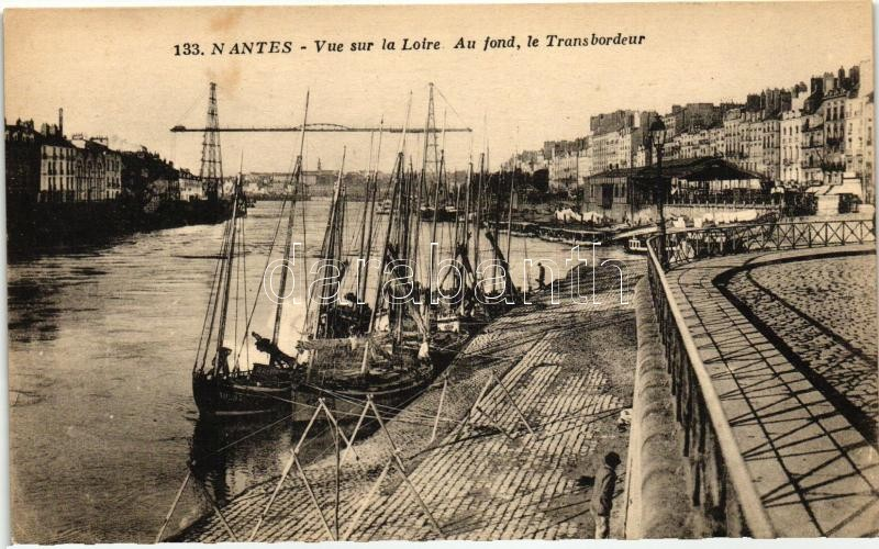Nantes, Loire, quay, ships