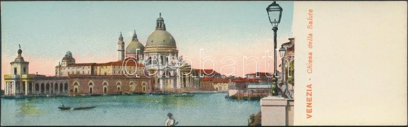 Venice, Venezia; Chiesa della Salute / church, minicard (13,8 cm x 4,2 cm)