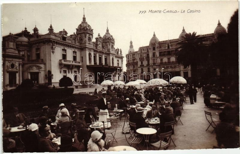 Monte Carlo, Casino, restaurant terrace