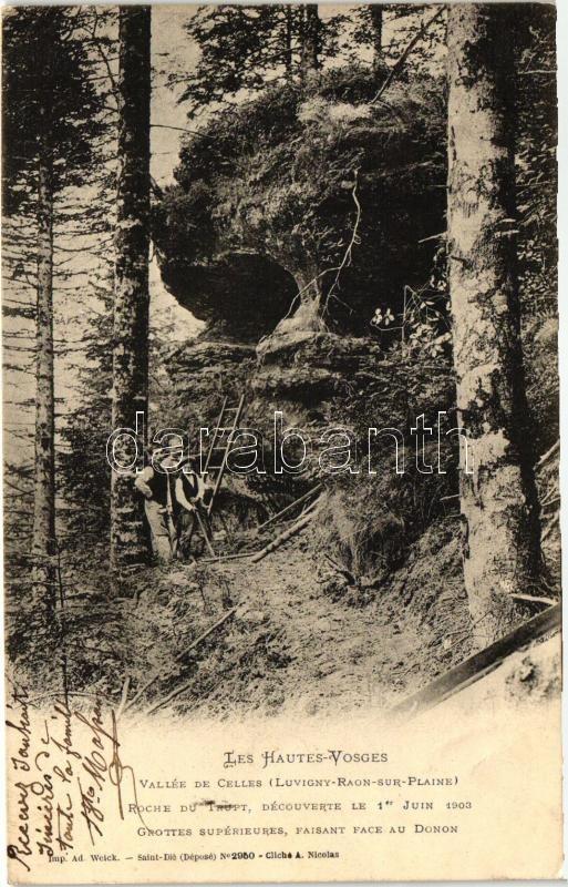 Luvigny-Raon-sur-Plaine, Vallée de Celles, Roche du Trupt, Grottes / cave