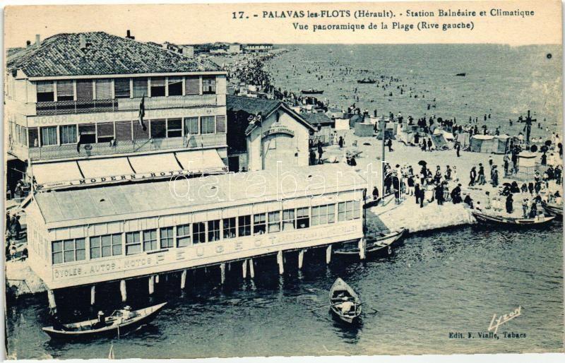 Palavas-les-Flots, Station Balneaire, Climatique / Modern Hotel, boat port, beach