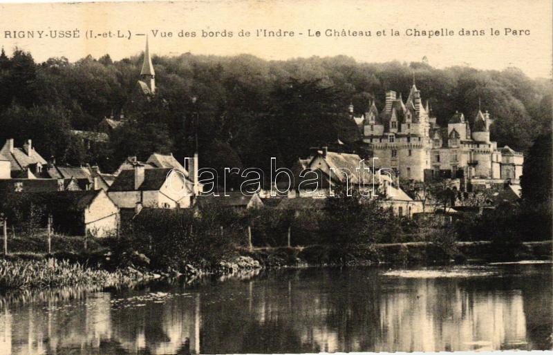 Rigny-Ussé, Bords de l'Indre, chateau, chapelle / river banks, castle, chapel