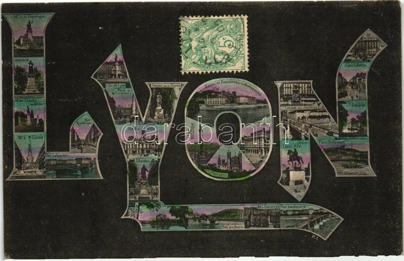 Lyon, initials greeting card