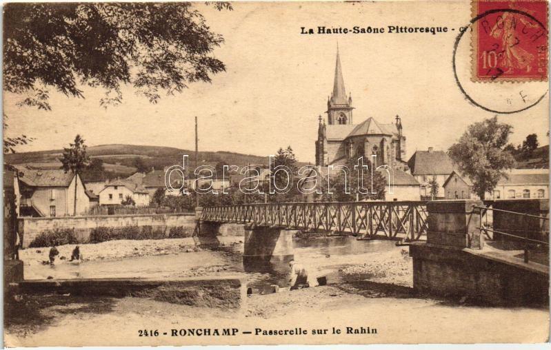 Ronchamp, Passerelle sur le Rahin / bridge