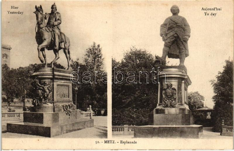 Metz, Esplanade, Statues of yesterday and today