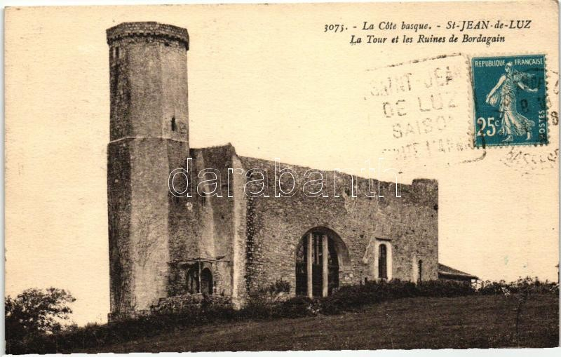 Saint-Jean-de-Luz, Bordagain tower and ruins