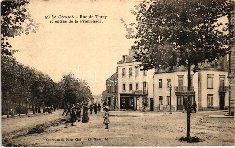 Le Creusot, Rue de Torcy, entry to the Promenade
