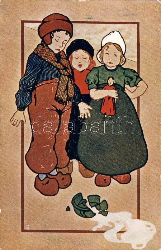 Dutch folklore, children, Depose Serie 128., Holland folklór, gyerekek, Depose Serie 128.