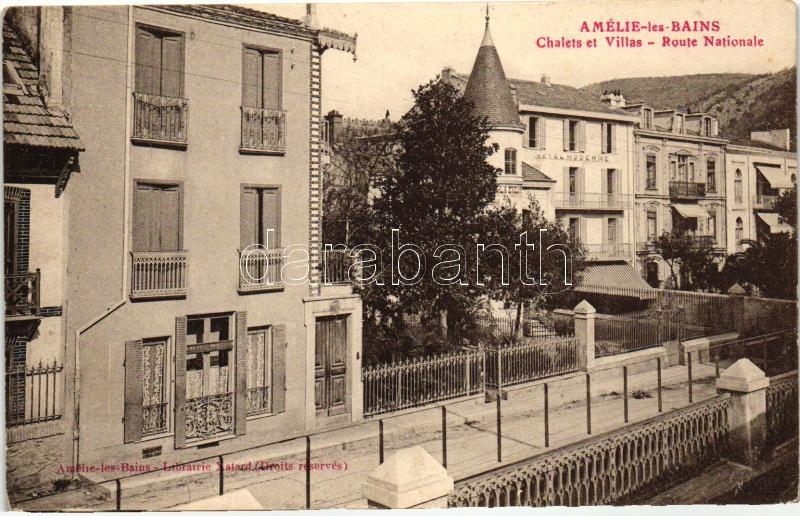 Amélie-les-Bains-Palalda, Chalets et Villas, Route Nationale / villa, road