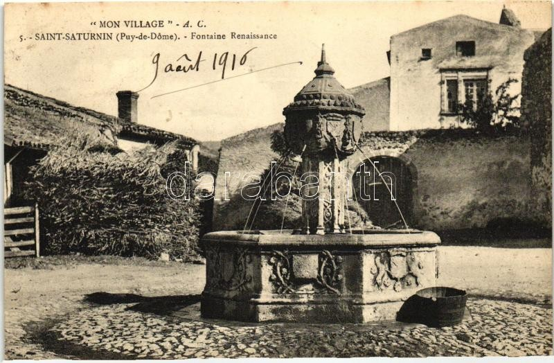 Saint-Saturnin, Mon Village, Fontaine Renaissance