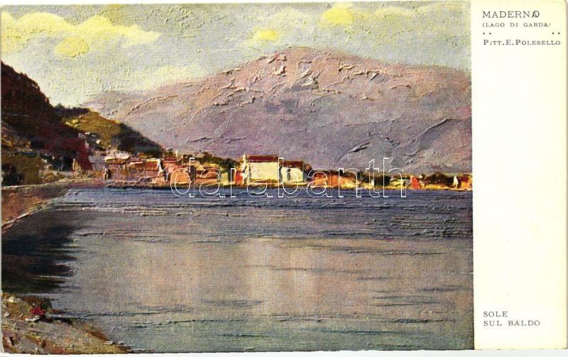 Lago di Garda, Maderno, Sole sul Bado s: E. Polesello