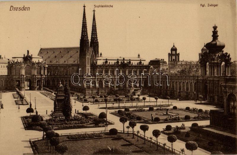 Dresden, Sophienkirche, Kgl. Zwinger / church, palace