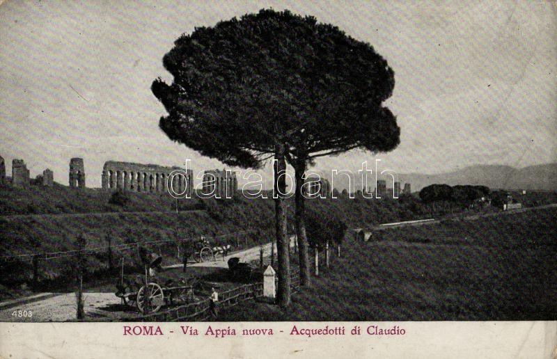 Rome, Roma; Via Appia nuova, Acquedotti di Claudio / the Via Appia and the Aquaduct of Claudius