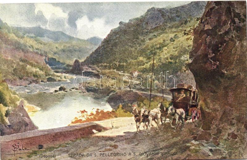 Strada da S. Pellegrino a S. Giovanni Bianco s: F. Sala