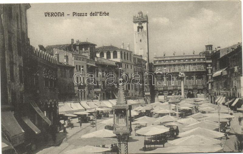 Verona, Piazza delle Erbe / fruit market
