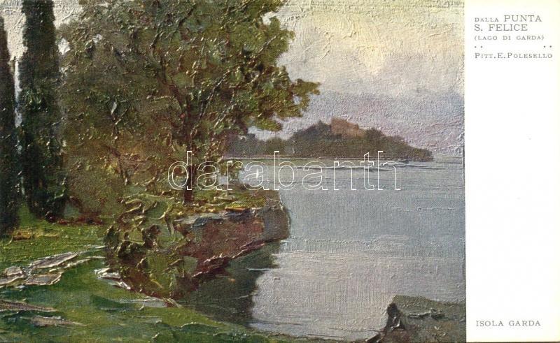 Lago di Garda, Isola Garda dalla Punta S. Felice s: E. Polesello