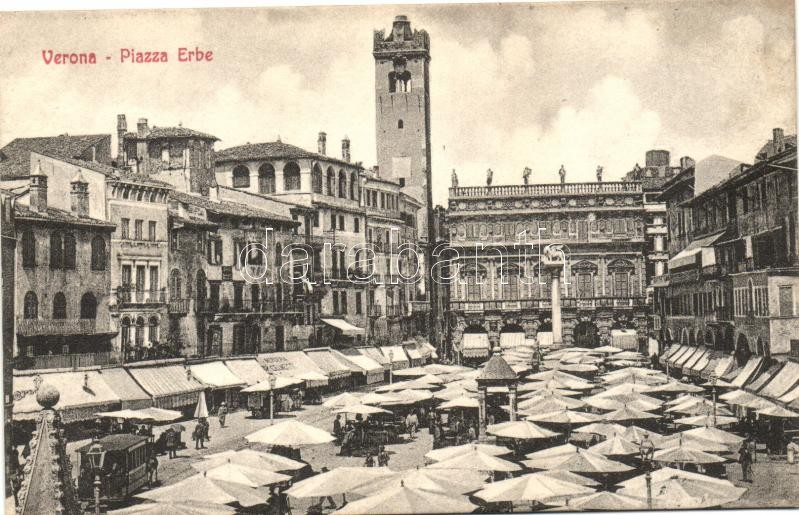 Verona, Piazza Erbe / fruit market