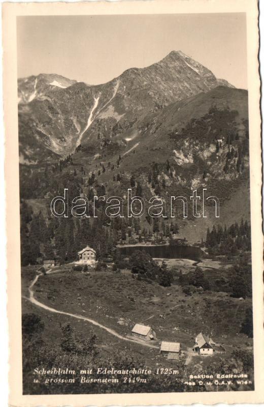 Scheiblalm mit Edelrautenhütte
