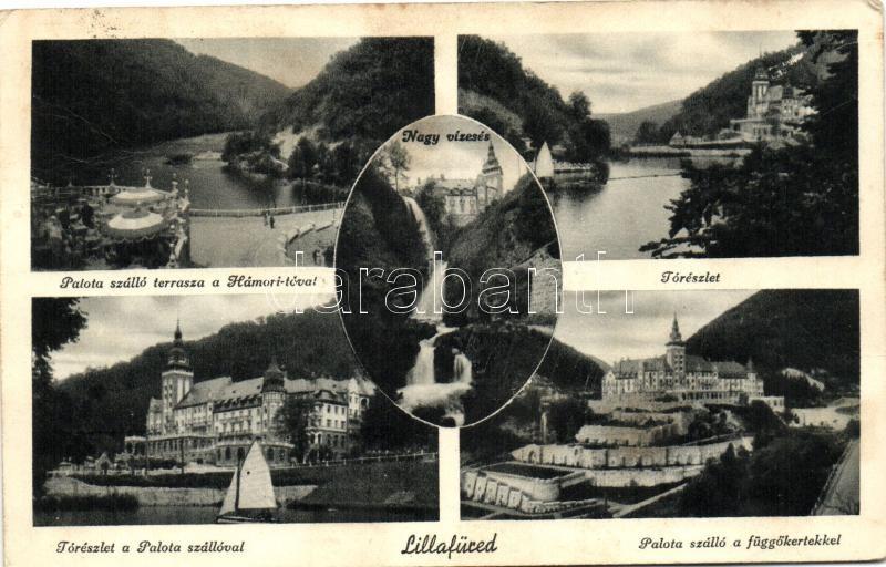 Lillafüred, tó, Nagy vízesés, Palota szálló, Függőkert