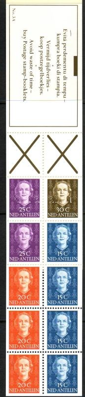 Queen Juliana I stamp booklet, I. Julianna királynő bélyegfüzet, Königin Juliana I. Markenheftchen
