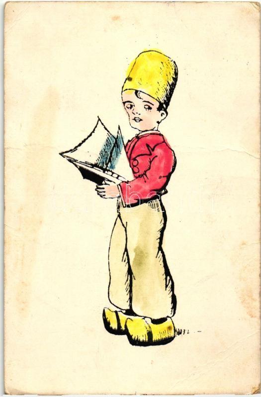 Holland fiú, folklór, Dutch folklore  boy
