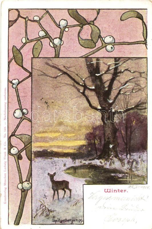 Winter, Kunstverlag München Ludwig Frank & Co. No. 543. s: Splitgerber, Tél, Kunstverlag München Ludwig Frank & Co. No. 543. s: Splitgerber