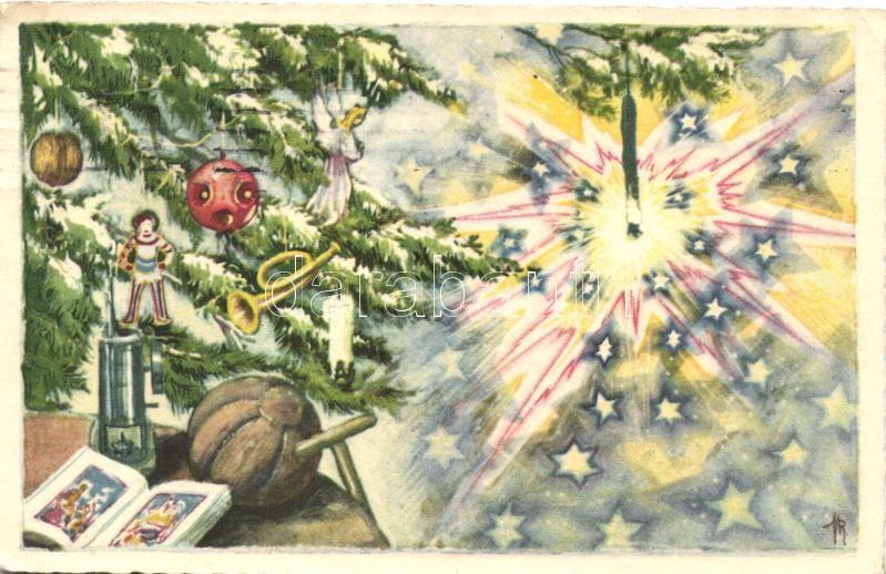 Veselé vánoce! / Christmas, Karácsonyi üdvözlő lap