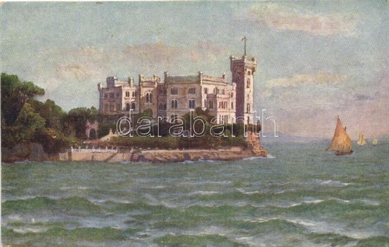 Trieste, Miramare visto dal mare, B.K.W.I. Serie 287-16.