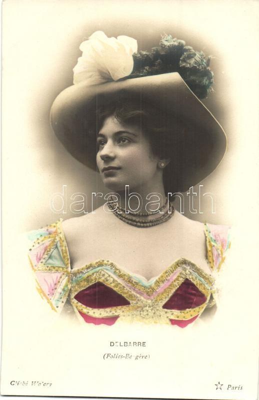 Delbarre, Folies Bergere, lady, Delbarre, hölgy