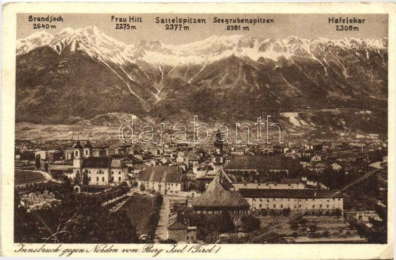 Innsbruck gegen Norden vom Berg Isel, Tirol