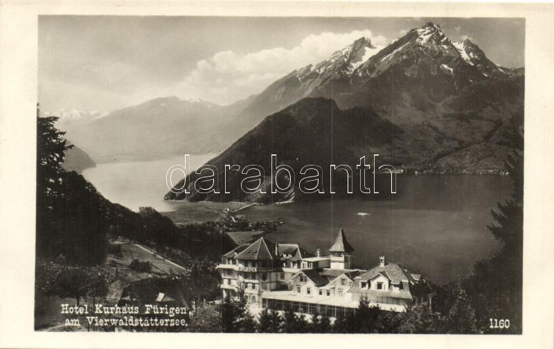Vierwaldstättersee, Lake Lucerne; Hotel Kurhaus Fürigen