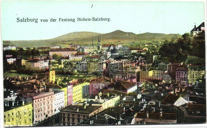 Salzburg von der Festung Hohen-Salzburg