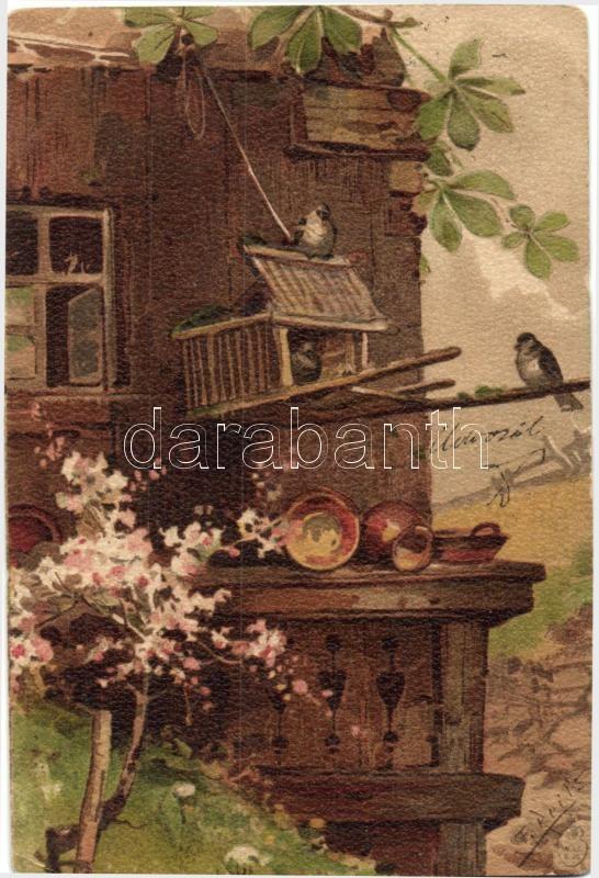Tavaszi művészlap, litho s: F. Reils