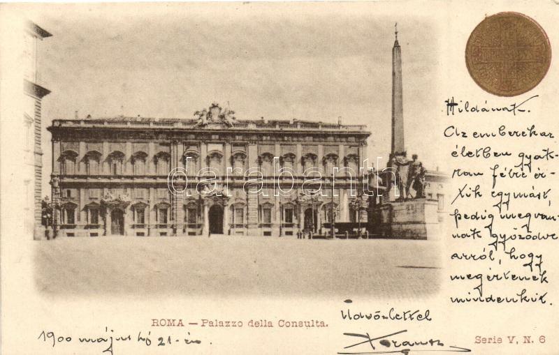 Rome, Roma; Palazzo della Consulta / palace