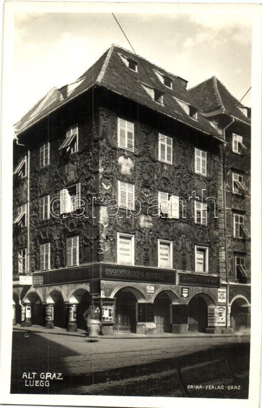 Graz, Alt-Graz, Luegg, Leopold Schreiner Ansichtskarten-Zentrale / postcard shop