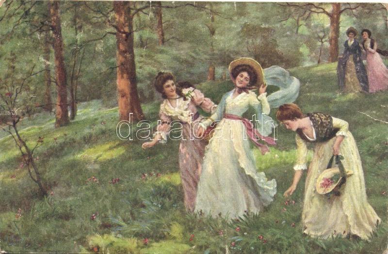 Spring, ladies, M.J.S. 106. s: Haigh-Wood, Tavasz, hölgyek az erdőben, M.J.S. 106. s: Haigh-Wood