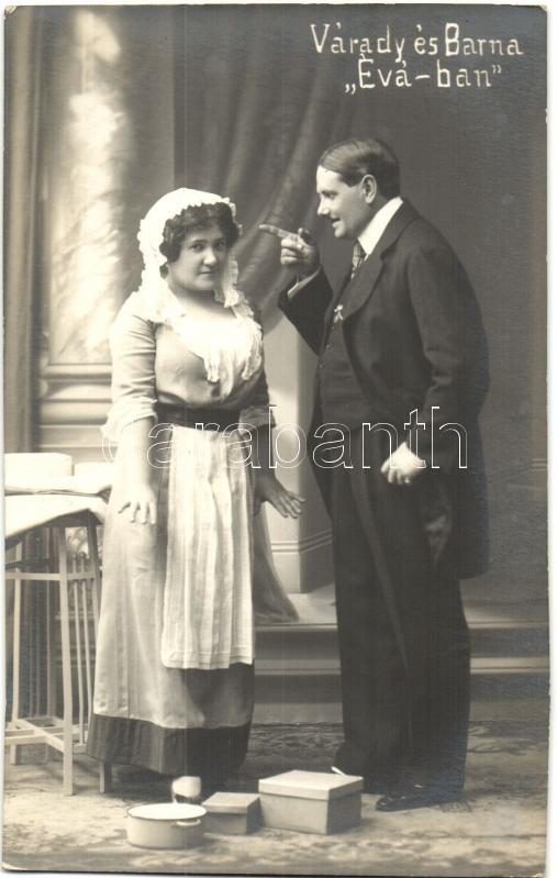 Várady Margit és Barna Andor az Évá-ban; Szamossy Ferencz fényképészeti műterme