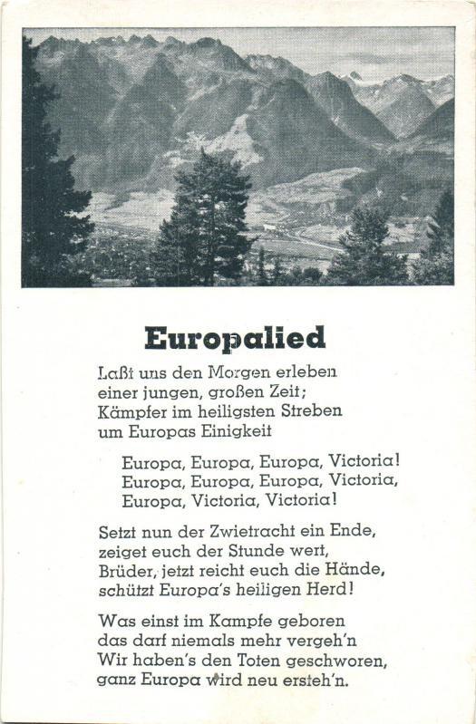 Europalied, Europa dal