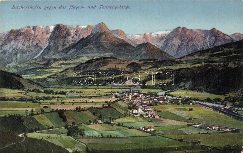 Bischofshofen gegen das Hagen- und Tennengebirge