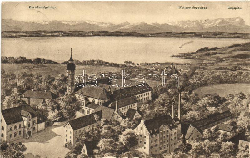 Andechs, Kloster, Ammersee, Gebirgspanorama