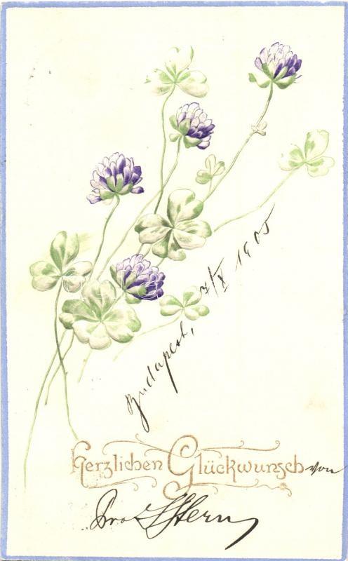 Herzlichen Glückwunsch! / Floral greeting card, Emb., Raphael Tuck & Sons Künstlerische Blümen Serie  Nr. 513B, Virágos dombornyomott üdvözlőlap, Raphael Tuck & Sons Künstlerische Blümen Serie  Nr. 513B
