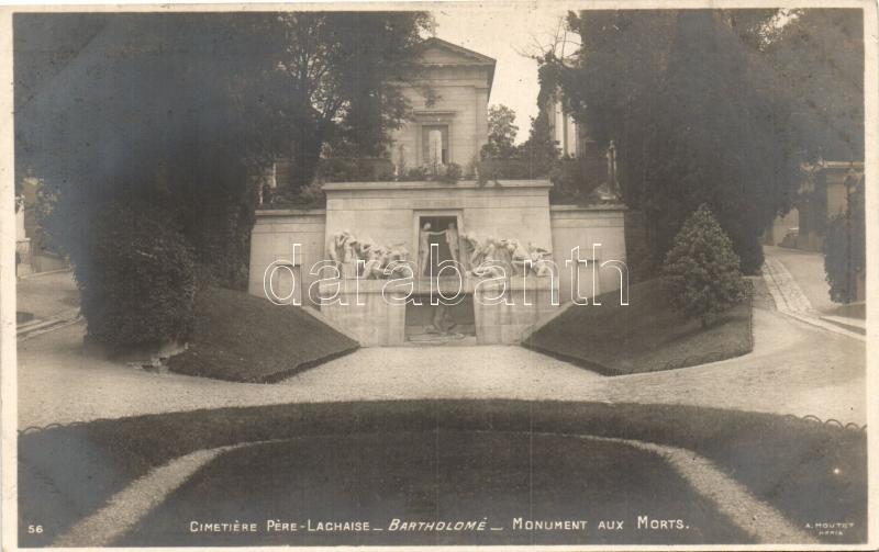 Paris, Bartholome, Cimetiere Pere Lachaise, Monument aux Morts / cemetery, monument