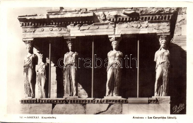 Athens, Athenes; Les Caryatides
