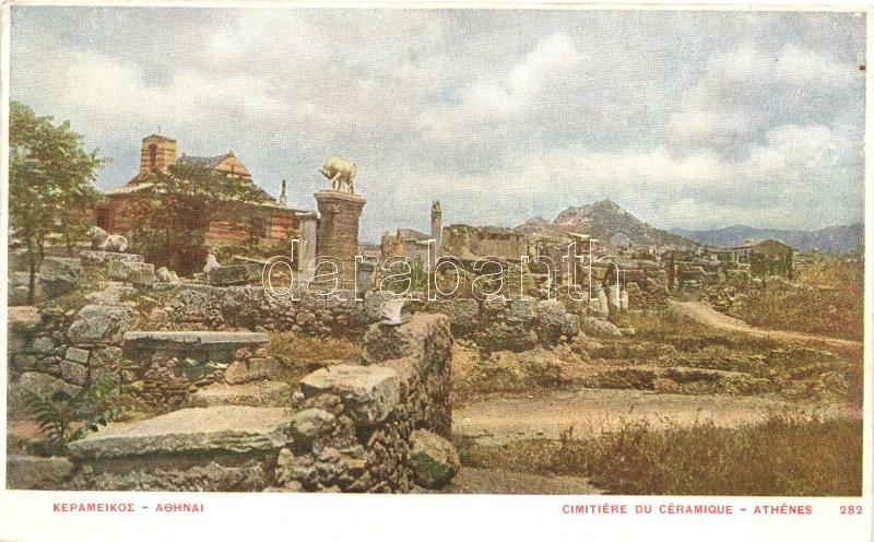 Athens, Athenes; Cimitiere du Céramique / cemetery