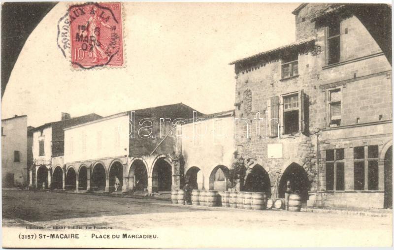 Saint-Macaire, Place du Marcadieu / square TCV